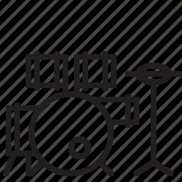 audio, drum, drumstick, instrument, music, sound, stick icon