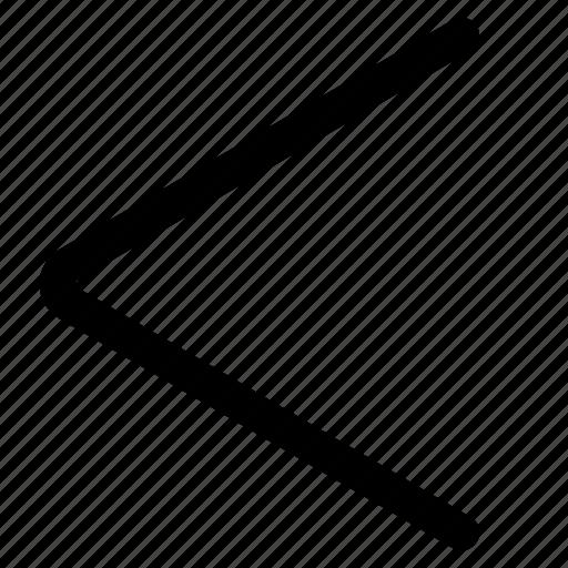 arrow, back, backward, left, previous icon