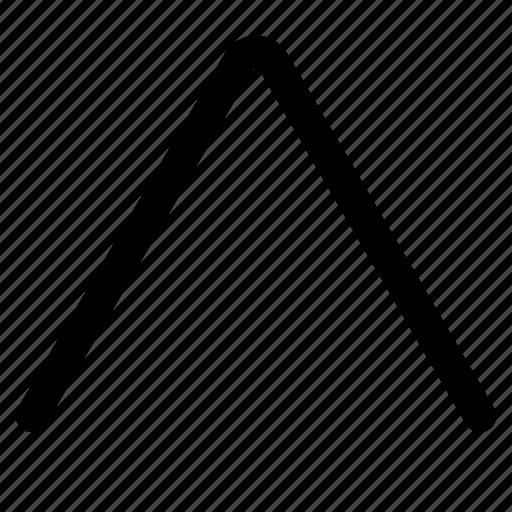 arrow, direction, menu, up, upscale icon
