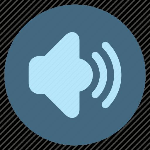 audio, multimedia, music, player, speaker, video, volume icon