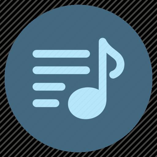 audio, file, list, multimedia, music, player, sound icon