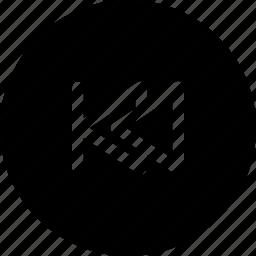 backward, previous, previous song icon
