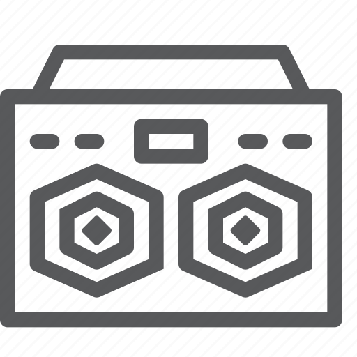 audio, boombox, listen, music, player, sound, stereo, tape icon