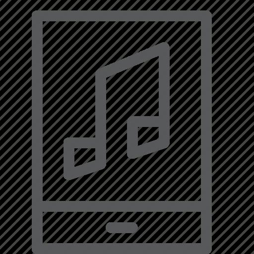audio, mobile, music, note, player, playlist, radio, sound icon