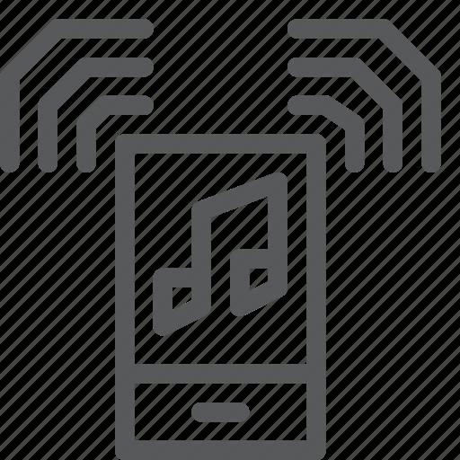 audio, mobile, music, note, playlist, radio, sound, speaker icon