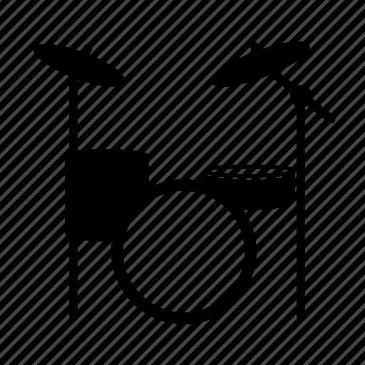 drums, instrument, kit, music, sound, studio icon