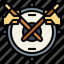 drum, drummer, hand, music