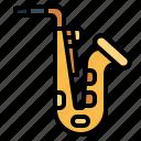 instrument, jazz, musical, saxophone, woodwind icon
