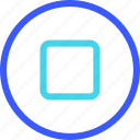 25px, iconspace, stop icon