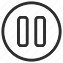 25px, iconspace, pause icon