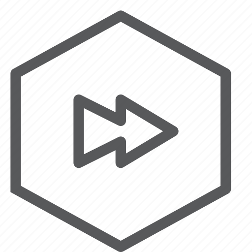 arrow, audio, control, fast, forward, media, play, sound icon
