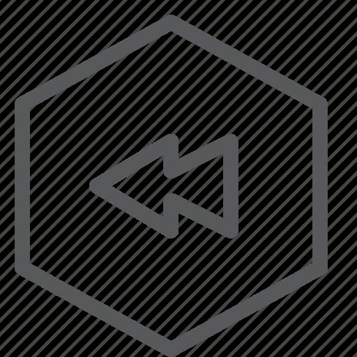 audio, back, control, media, play, rewind, sound, video icon