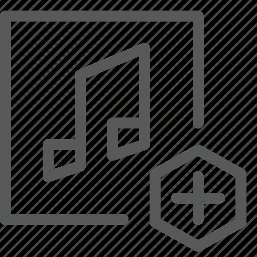 add, audio, media, music, play, sound, sync, transfer icon