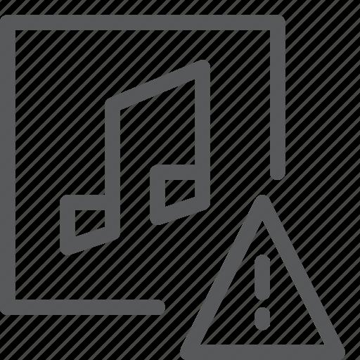 alert, audio, media, music, notification, play, sound, warning icon