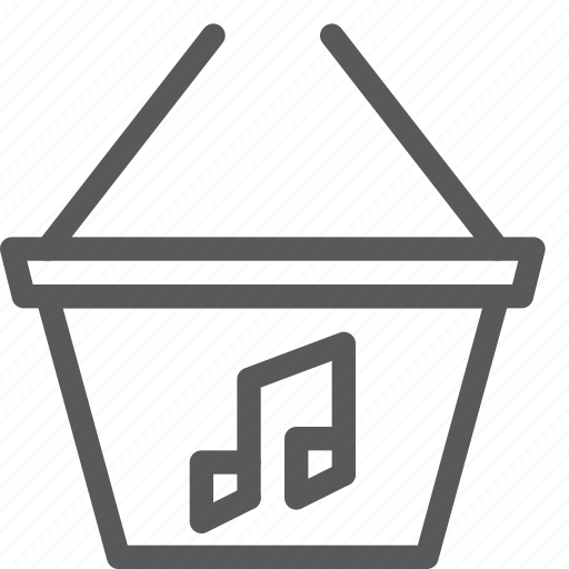 audio, basket, buy, music, purchase, song, sound icon