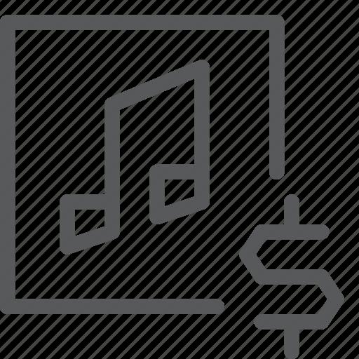audio, buy, dollar, media, music, play, purchase, sound icon