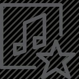 audio, favorite, media, music, play, sound, star icon