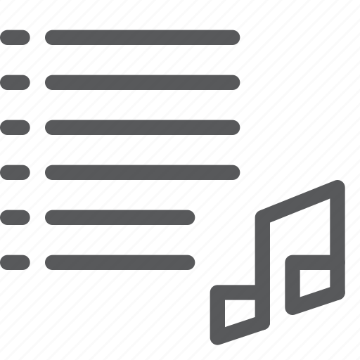audio, collection, media, music, note, play, playlist, sound icon