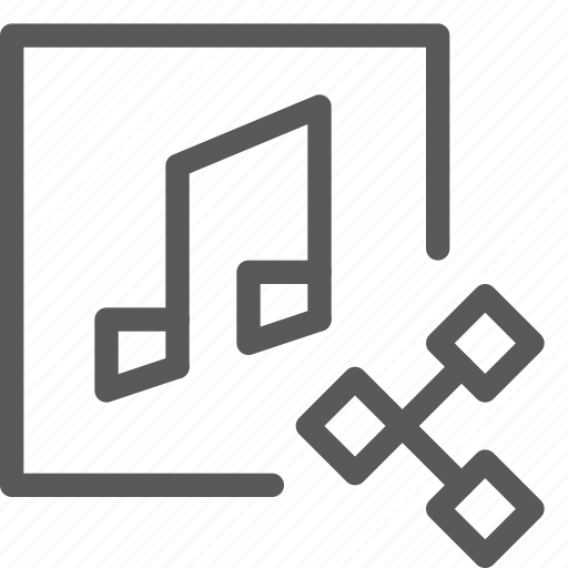 audio, media, music, note, play, send, share, sound icon