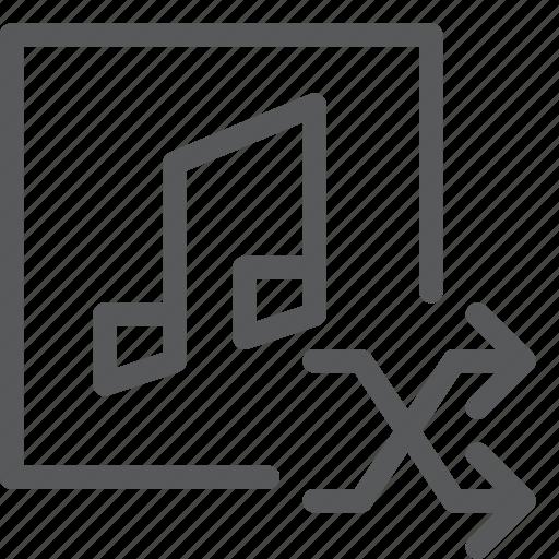 arrow, audio, media, music, play, random, shuffle, sound icon