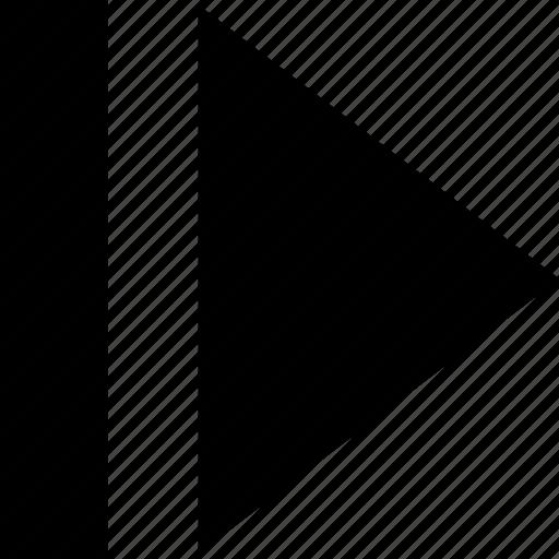 ahead, forward, move, next icon