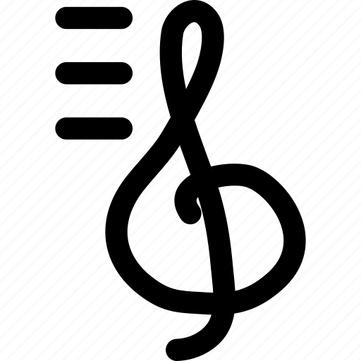 classic music, music, note, octave treble clef, sign icon
