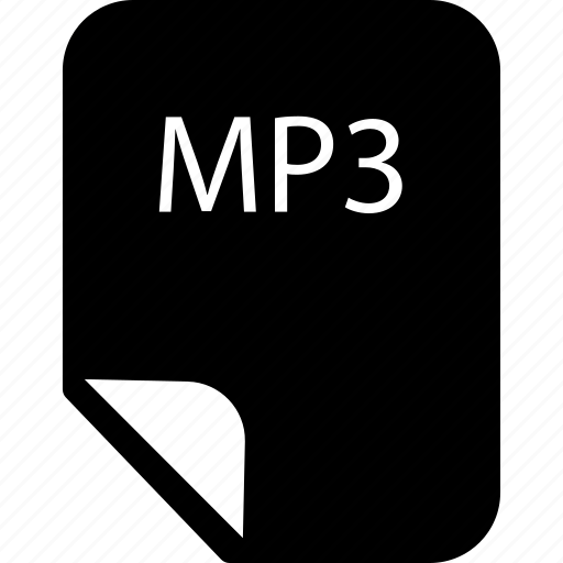 document, file, mp3 file, mp3 format icon