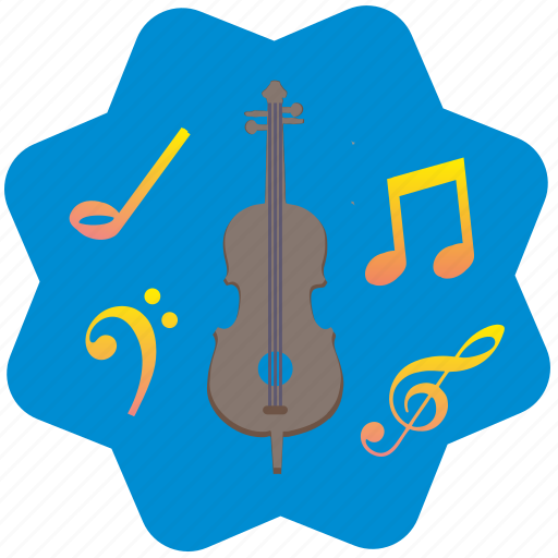 cello, classic, melody, music, song icon