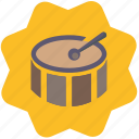 drum, melody, music, song icon
