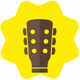 guitar, melody, music, neck, song icon