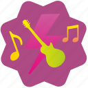 guitar, melody, music, shock, song icon