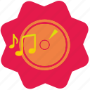 disc, melody, music, song icon