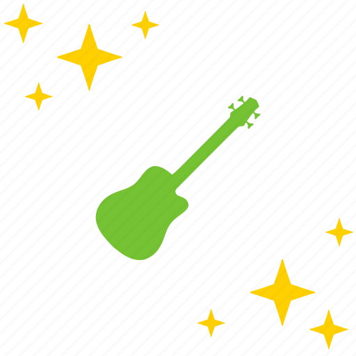 acoustic, electric, guitar, instrument, music, rock icon