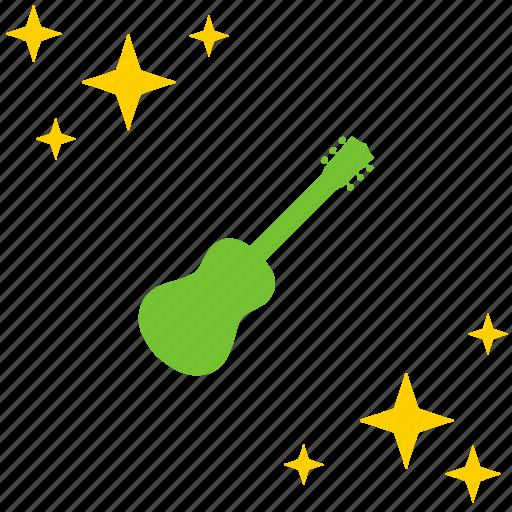 acoustic, guitar, instrument, mini, music icon