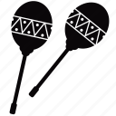 equipment, instrument, maracas, music, rocker, shaker, sound icon