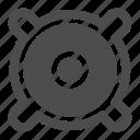audio, sound, music, woofer, volume, speaker icon