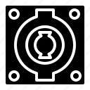 audio, connector, music, speakon, studio icon