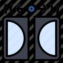 audio, digital, dolby, music, studio icon