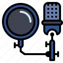 audio, filter, microphone, pop, studio icon