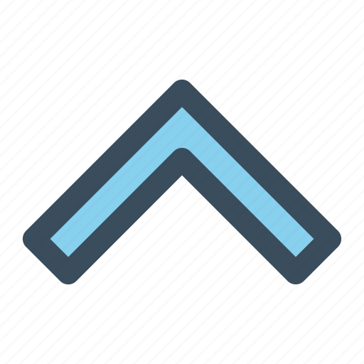 arrow, chevron, navigation, up icon