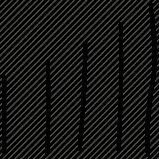 graph, level, signal, volume icon