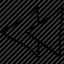 arrow, direction, previous, rewind icon