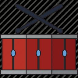 audio, drum, instrument, melody, music, musical, sound icon