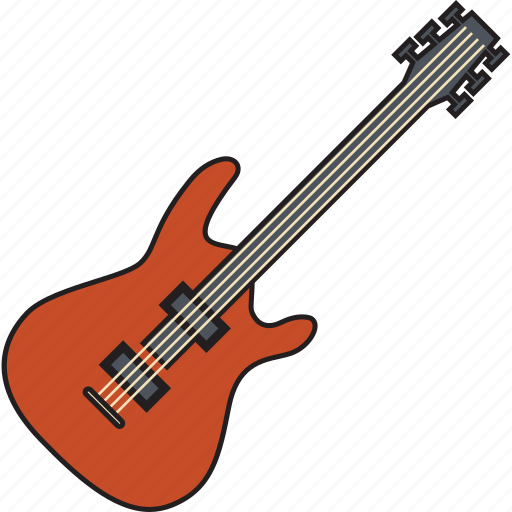 guitar, media, music, musical, play, player, video icon
