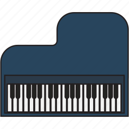 audio, instrument, music, musical, piano, play, sound icon