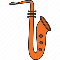 instrument, melody, music, musical, play, sacxophone icon