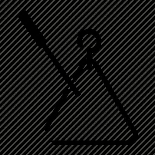 idiophone, instrument, musical, percussion, triangle icon