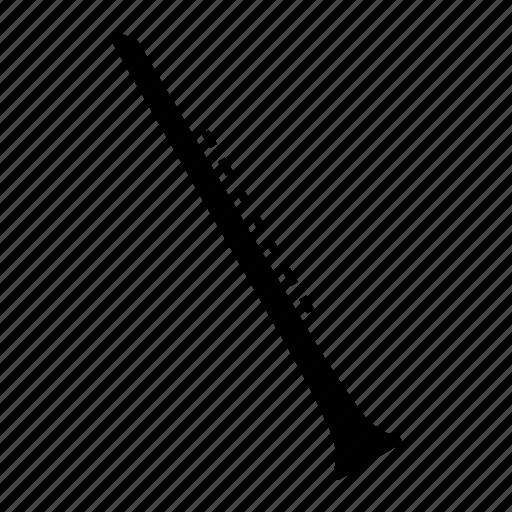 aerophone, clarinet, instrument, musical, woodwind icon