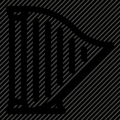 chord, folk, harp, instrument, melody, music, musical icon