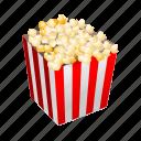 cinema, entertainment, fun, movies, popcorn icon